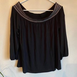 Off the Shoulders Old Navy Black Blouse